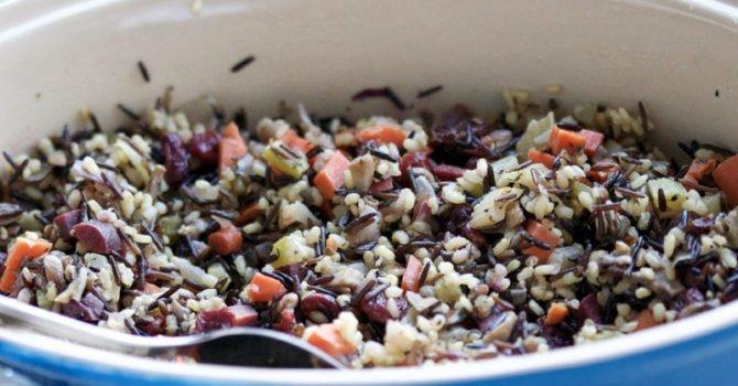 Vegetarian Wild Rice And Mushroom Stuffing