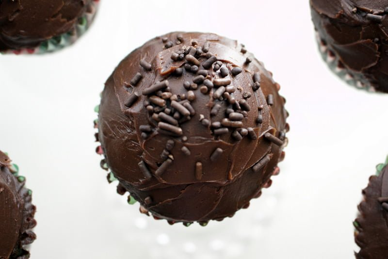 Chocolate Cupcakes With Rum Chocolate Ganache