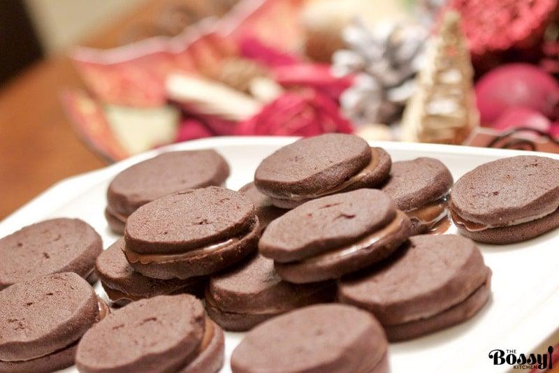 Chocolate Cookies With Earl Grey Ganache2