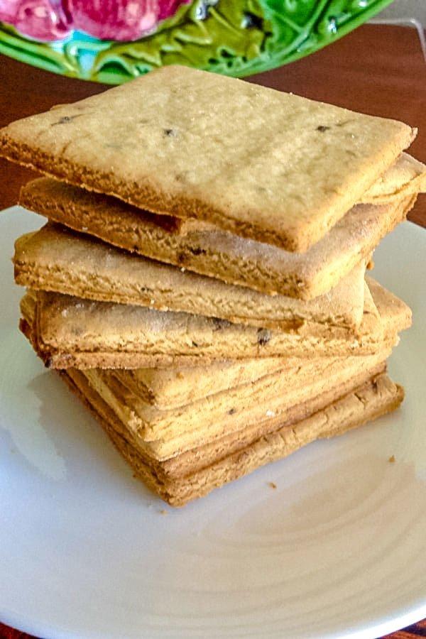 Stacked Coffee Flavored Sugar Cookies