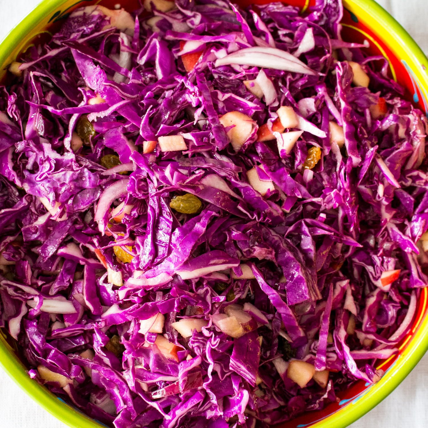 Apple Walnuts And Raisins Red Cabbage Salad11 1