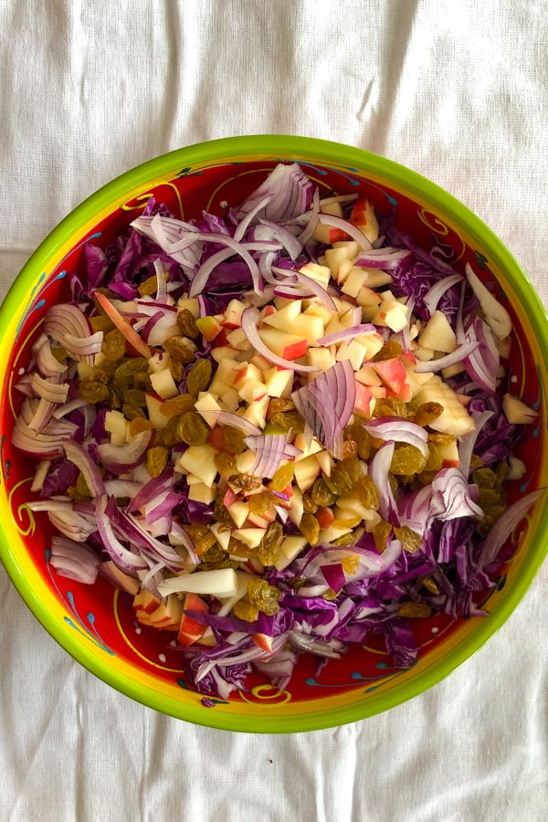 Apple Walnuts And Raisins Red Cabbage Salad22 1