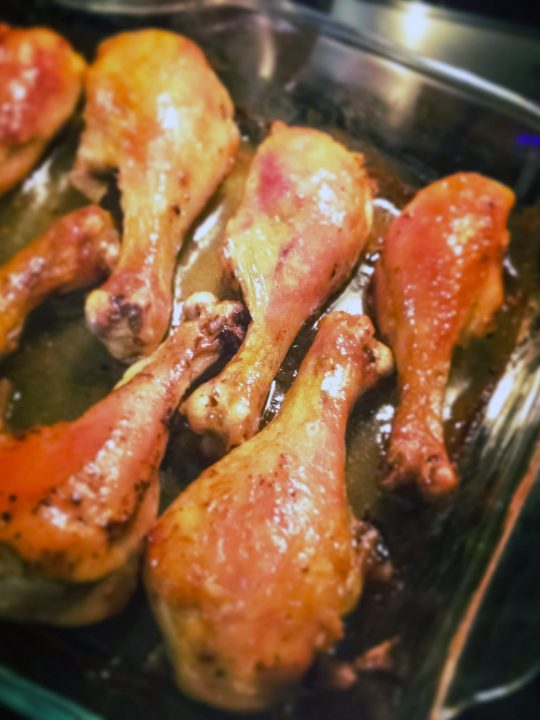 Brandy Vanilla Butter Roasted Chicken Drumsticks0