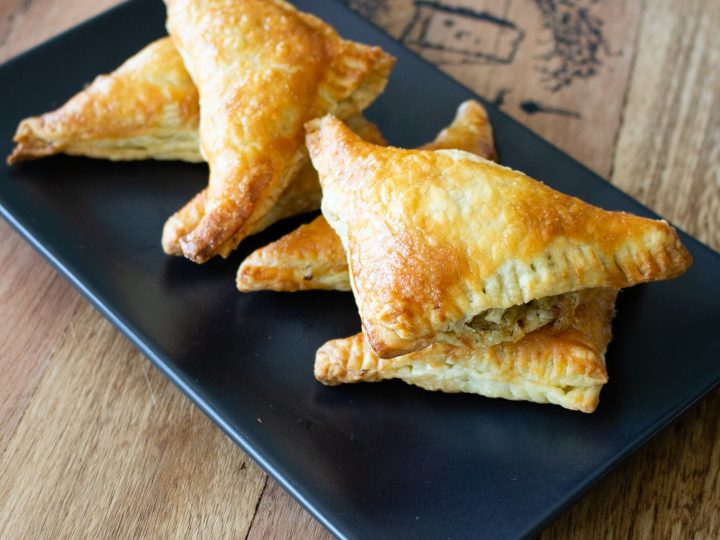 Cabbage Puff Pastries Triangles