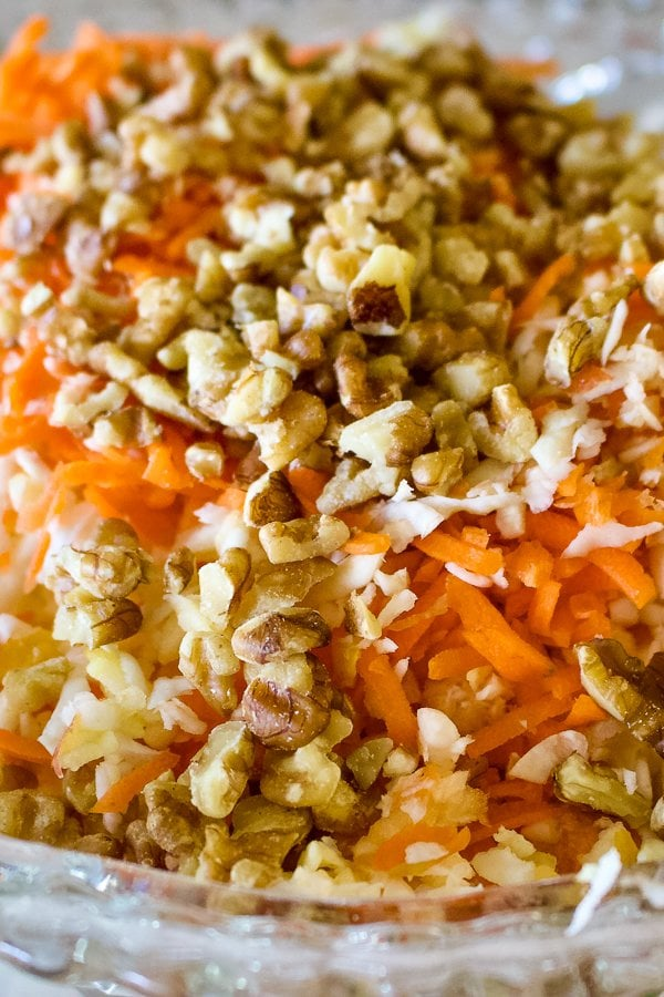 Celeriac Celery Root Apple and Carrot Salad- with walnuts