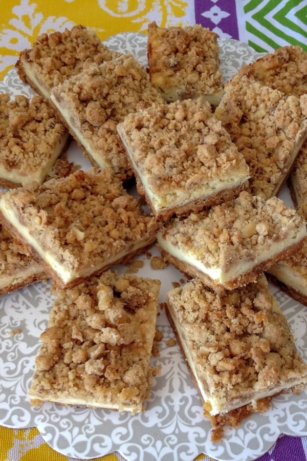 Cheesecake squares recipe is a great way to have cheesecake without guilt. Also, the bars are great for a potluck or a party.