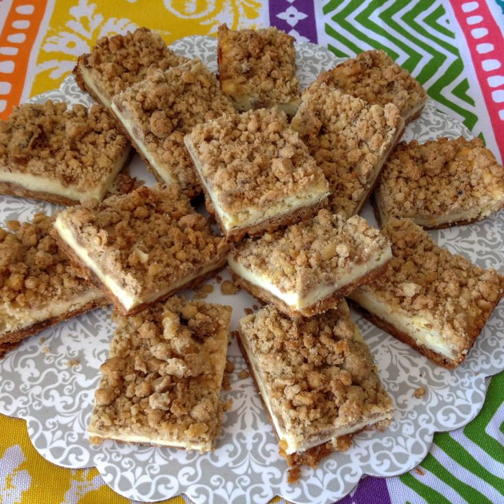 Cheesecake Squares With Crunchy Pecans