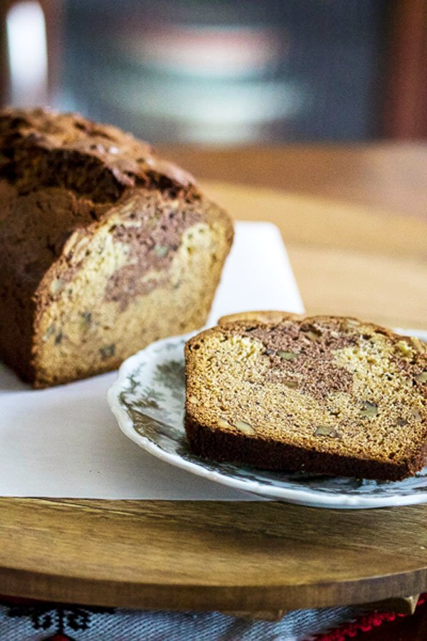 This Cocoa Walnuts Banana Bread recipe is a very popular, delicious and easy to bake that can be made with left over bananas sitting in your kitchen.