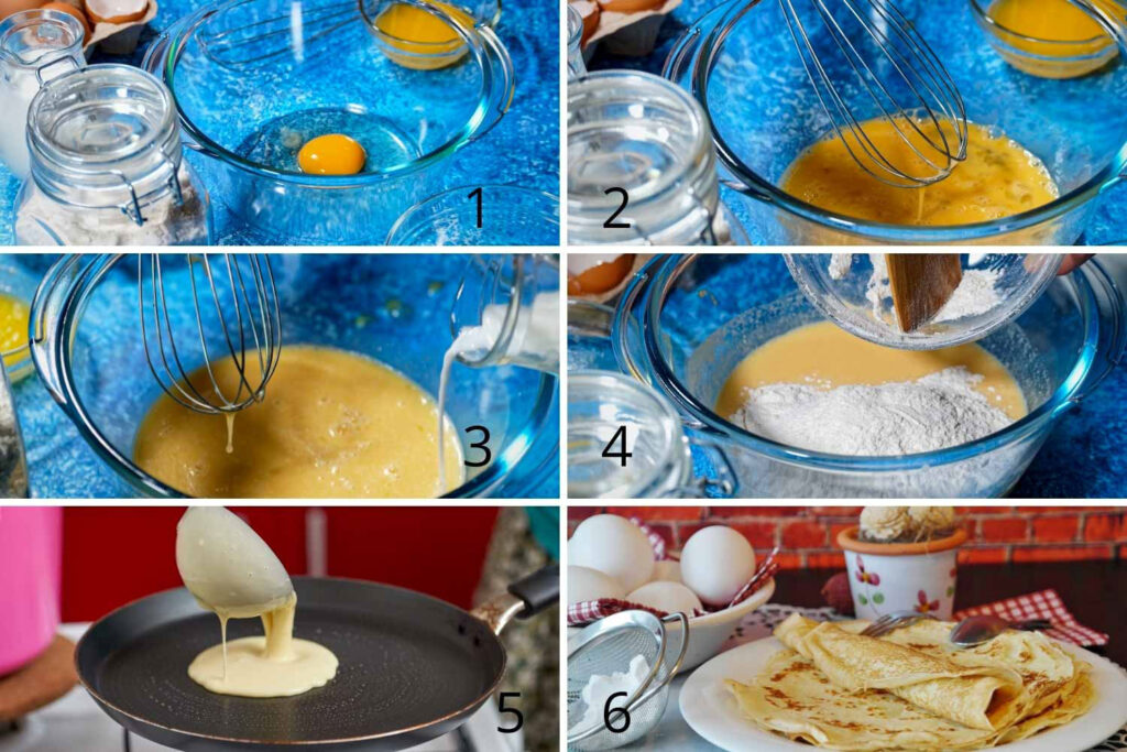 Crepes Process steps
