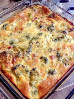 Crustless Broccoli Bacon Quiche 1