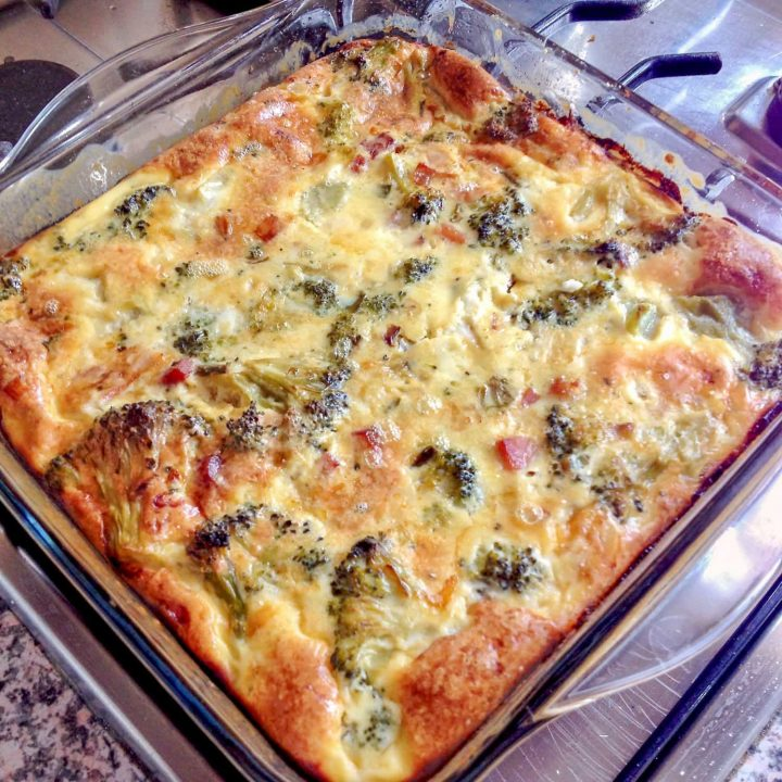 Crustless Broccoli Bacon Quiche 1