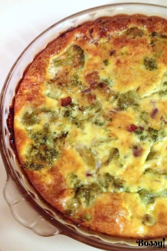 Crustless Broccoli Bacon Quiche