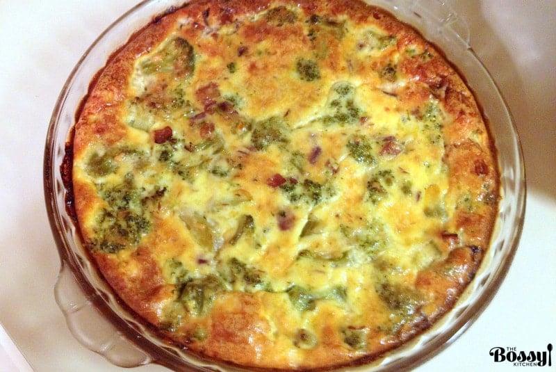 Crustless Broccoli Bacon Quiche