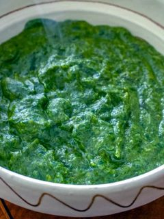 This is a great easy creamy spinach recipe to add to your collection of healthy side dishes recipes. Also, it is good for children, perfect with chicken, lamb or any other meat you like. A favorite on the Easter table as well.