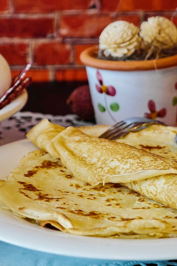 Plate With Crepes and fork0