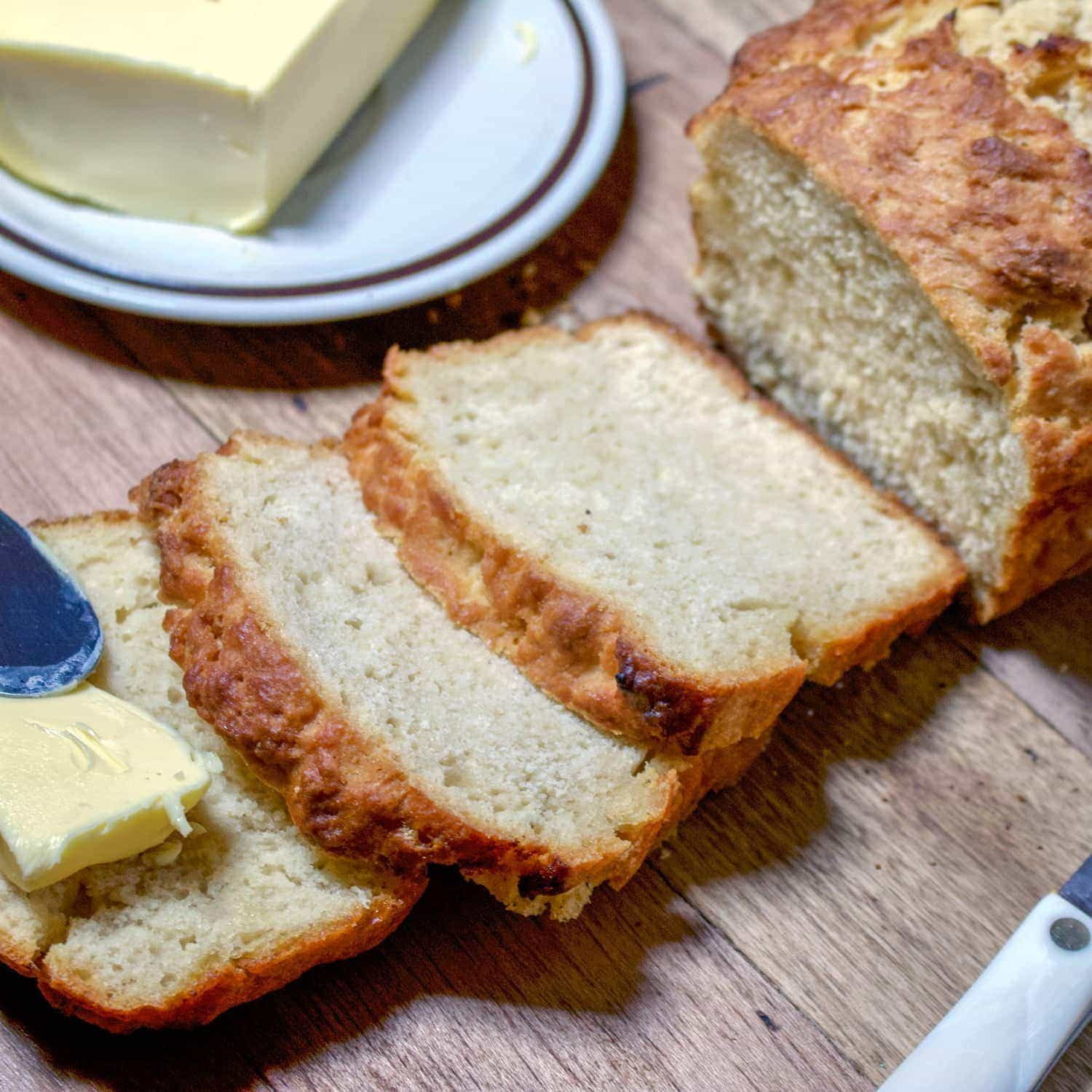 This is a quick and easy beer bread recipe perfect for the holidays and not only. The bread is soft and delicious with soups, stews or other favorites.