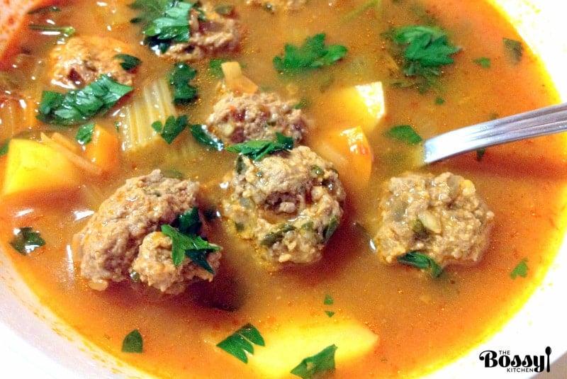 Romanian Meatballs Sour Soup (Ciorba De Perisoare)8