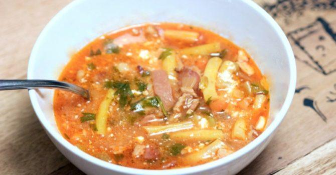 Transylvanian Bacon Green Beans Soup