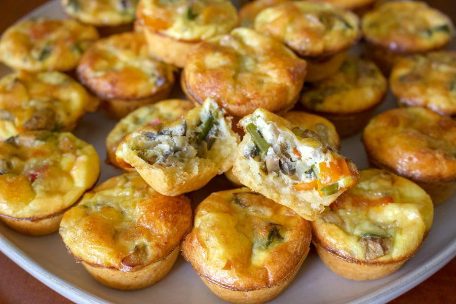 Vegetarian Mini Quiche Recipe