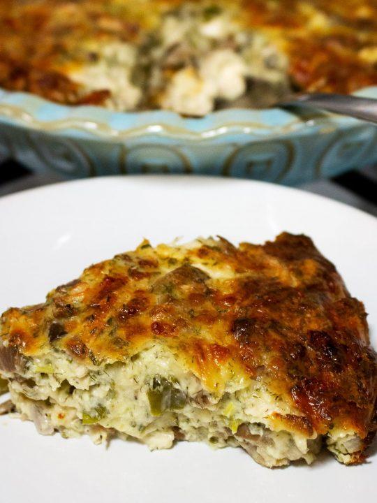 Cheesy Chicken And Mushroom Pie Recipe0