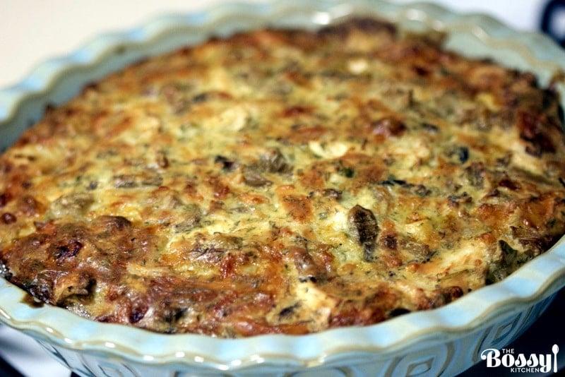 Cheesy Chicken And Mushroom Pie Recipe