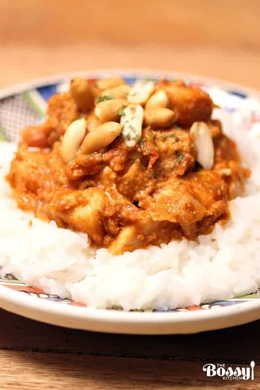 This easy peanut butter chicken recipe is inspired from the African cuisine.  It is an excellent dish for a quick dinner.#peanutbutterchickenrecipe #peanutbutterrecipes #easyrecipes