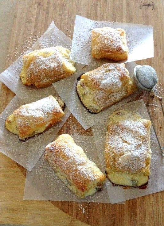 Farmer Cheese Sweet Pastries on parchment paper