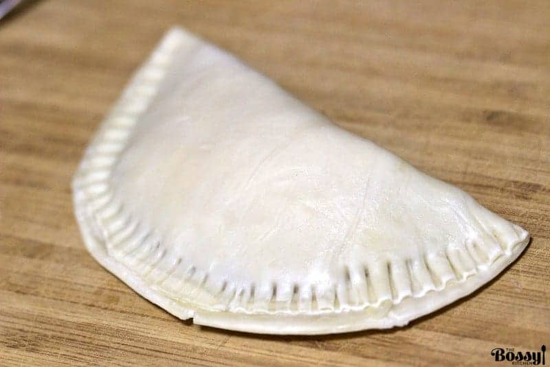 puff pastry pocket unbaked filled with ham and cheese