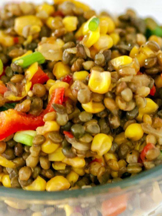 Lentils Corn And Pepper Salad