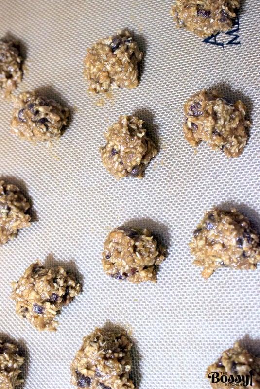 Sunflower Seeds Butter Cookies(Vegetarian, Gluten Free Recipe)- unbaked cookies on baking trey