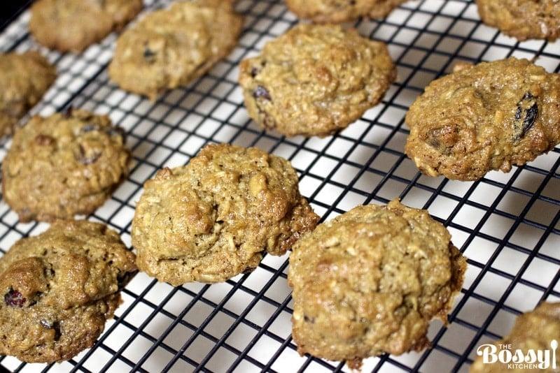 Sunflower Seeds Butter Cookies(Vegetarian, Gluten Free Recipe) cooling on a metal rack