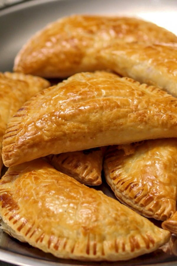 ham cheese puff pastry pockets close up