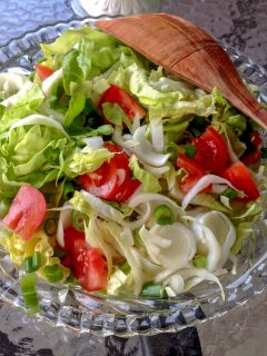 Belgian Endives Boston Lettuce Salad is a simple delicious salad that can be made anytime during the year. Great in the summer though with a glass of wine.