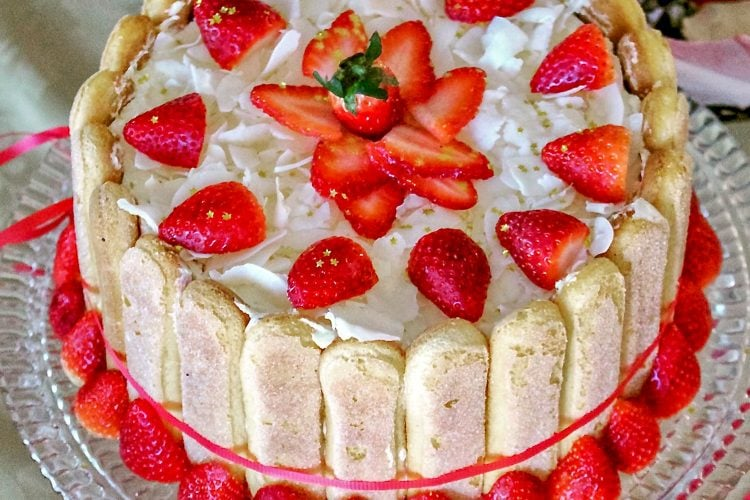 Charlotte Russe Cake- Classic European Recipe(No Bake)