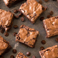 Coffee Brownies With Cinnamon on white plate feature photo0