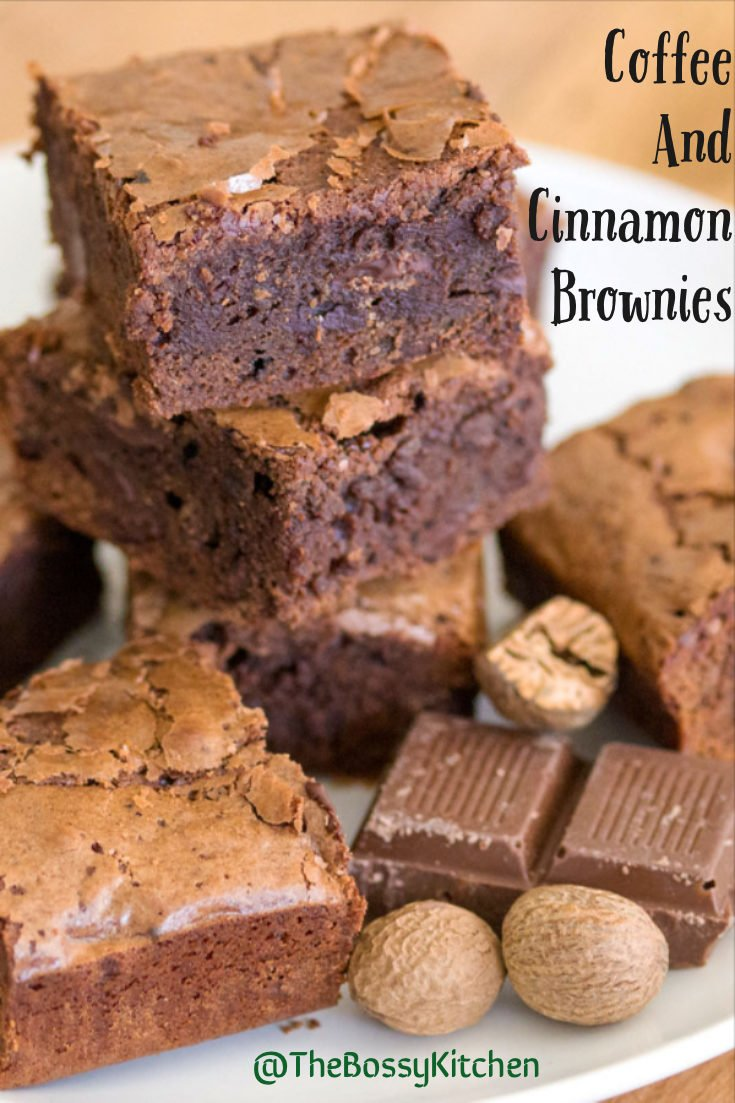 Coffee and cinnamon brownies- easy, non complicated recipe for the coffee and chocolate lovers. The cinnamon and nutmeg bring elegance to the recipe.