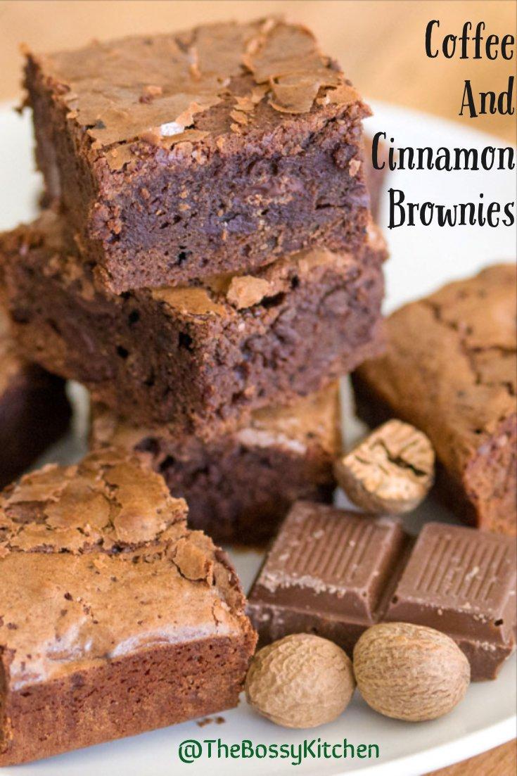 Coffee and cinnamon brownies