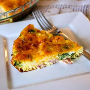 Crustless Spinach with Smoked Meat and Gouda Cheese Quiche 2