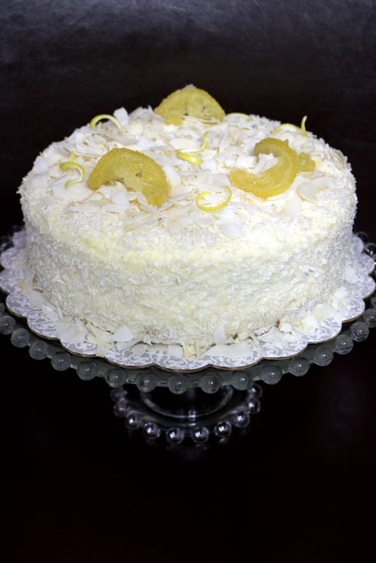 Cream cheese lemon coconut cake is a versatile recipe that can be made any time of the year. It is suitable for the holidays or any celebrations when you need a beautiful dessert that everyone can have. It has a subtle tropical taste from the lemon and the coconut combination.