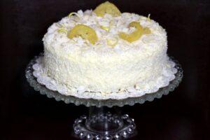 Cream Cheese Lemon Coconut Cake