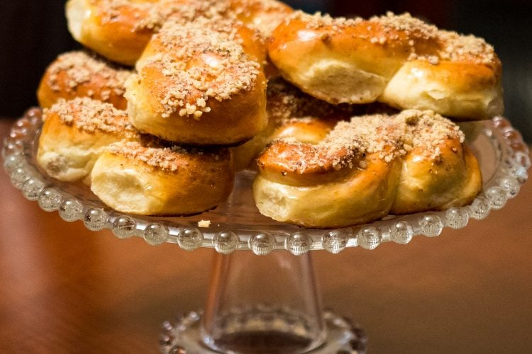 Mucenici- A Traditional Romanian Honey And Walnuts Pastry
