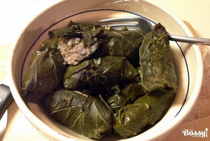 Romanian Stuffed Grape Leaves-Dolmades