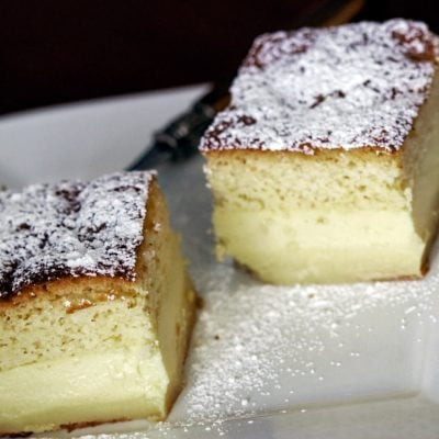 Vanilla Magic Custard Cake Recipe