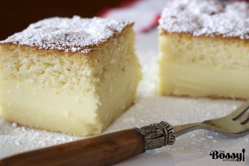 Vanilla Magic Custard Cake Recipe The Bossy KitchenCooking at