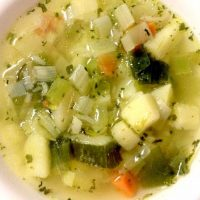 Easy Leek and Rice Soup