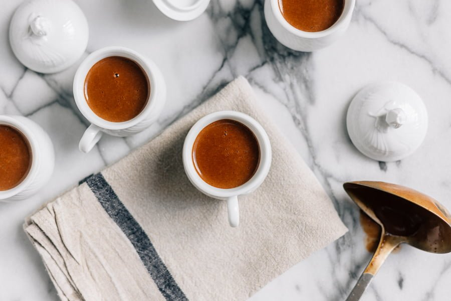 Delicious hot chocolate- Spanish style recipe to make during the cold season. Serve it with churros or other little favorite pastries.