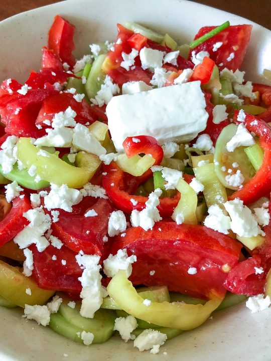 Quick Tomato Cucumber And Pepper Summer Salad6