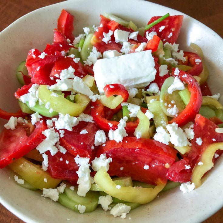 Quick Tomato Cucumber And Pepper Summer Salad