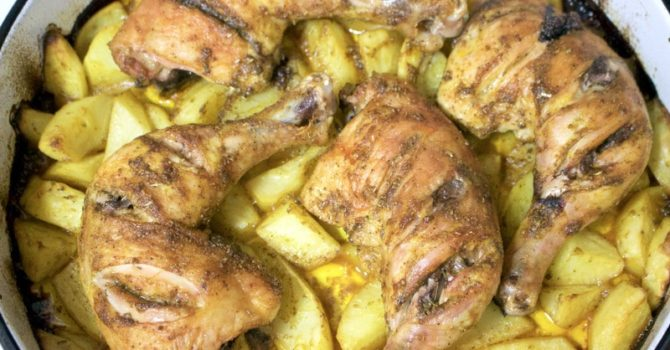 Roasted Chicken And Potatoes