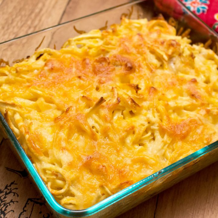 Baked Cheesy German Spaetzle Pasta with Caramelized Onion1